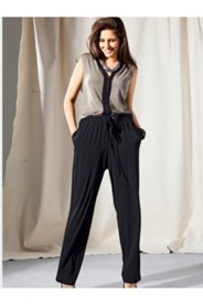 Matte Jersey Colorblock Jumpsuit