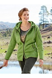 Knit Fleece Melange Jacket