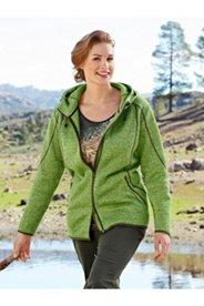 Knit Fleece Melange Jacket