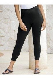 Stretch Knit Cropped Leggings