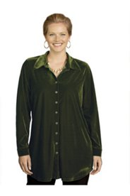 Olivia Knit Velvet Bigshirt