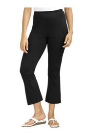 Stretch Knit Cropped Yoga Pants