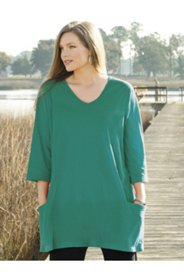 Patch Pocket Knit Swing Tunic