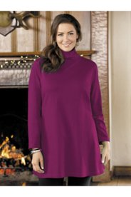 Mock Neck Knit Swing Tunic