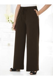 Wide-leg Drawstring Knit Pants
