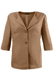 Lapel Viscose Linen Blend Jacket