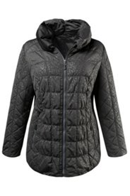 Tonal Animal Print Quilted Jacket