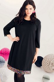 Sequin Trim Knit Dress
