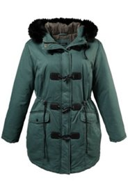 Toggle Faux Fur Trim Hood Parka