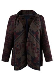 Aztec Print Shawl Collar Jacket