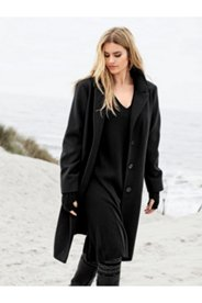 Wool Like Notch Collar Coat