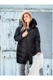 Fur Trim Hood Quilted Coat