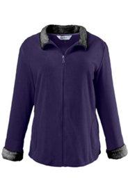 Fur Trim Zip Fleece Jacket
