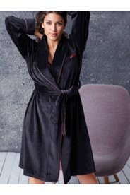 Satin Piped Bathrobe