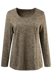 Heather Round Neck L/S Top