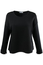Textured Two Fabric Knit Top