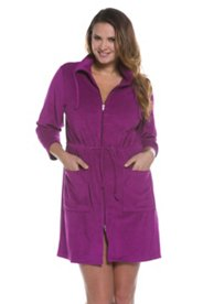 Drawstring Waist Terry Bathrobe