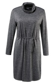 Mélange Turtleneck Dress