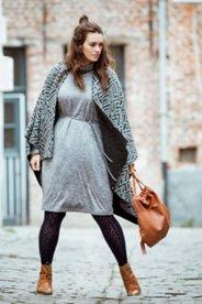 Mélange Turtleneck Dress