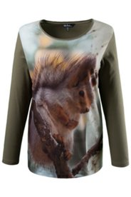 Photo Print Squirrel Tee