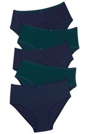 5 Pack of Panties - Blue and Green