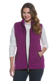 Piped Contrast Knit Vest