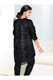 Layer Mix Fabric Tunic Dress
