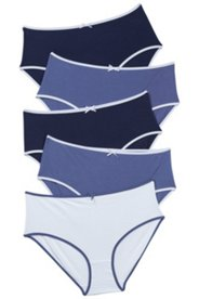 5 Pack of Panties - Shades of Blue