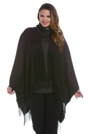 Ombre Open Front Poncho