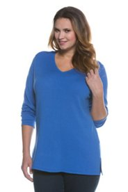 V-neck Seam Front Sweater