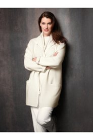 Elegant Winter White Cardigan Sweater