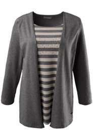 2 in 1 Stripe Grommet Knit Top