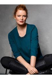 Jewel Seam Front Knit Top