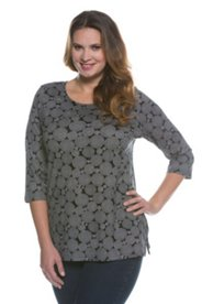 Swirling Circles Knit Top
