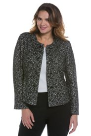 Leopard Design Boiled Wool Jacket