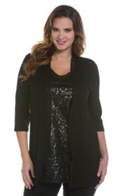 2-in-1-Sequin Sparke Knit Top