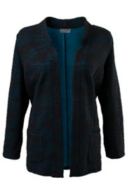 Patterned Open Front Jacket