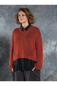 Ribbed Two Tone Boxy Sweater