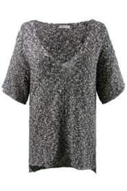 Marled Deep V Sweater