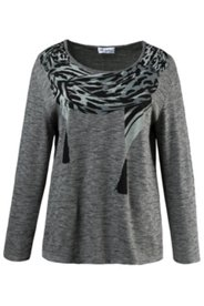Printed Scarf Sweater