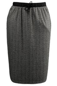 Herringbone Pull-on Skirt