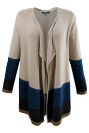 Colorblock Stripe Cardigan Sweater