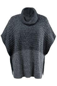 Marled Sweater Knit Poncho