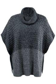 Marled Sweater Knit Poncho