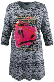 Graphic Modern Knit Tunic Dress