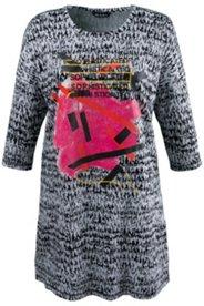 Graphic Modern Knit Tunic Dress