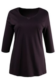 Pima Cotton Grommet Accent Tee