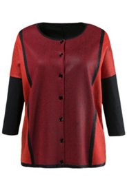 Boxy Colorblock Cardigan Sweater