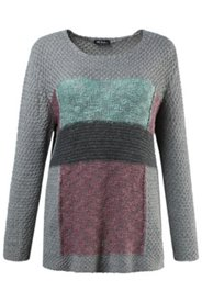Grey Multi Colorblock Sweater