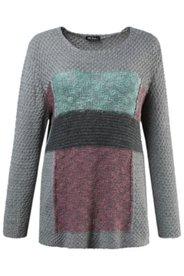 Grey Multi Colorblock Sweater
